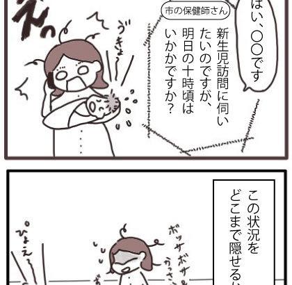 市の乳幼児健診③新生児訪問【のんびり子育て記録】