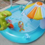 お家でプールをする時に効率よく水を温める方法