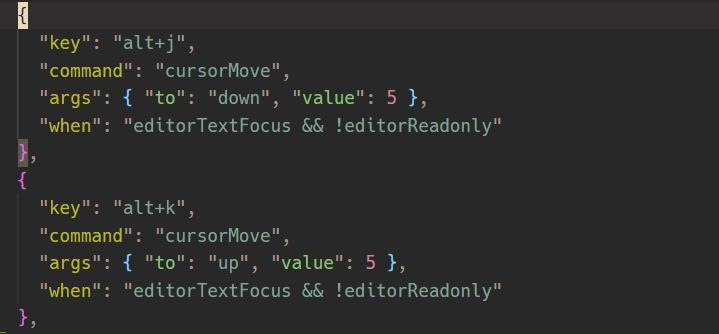 VSCodeで5行単位で上下にまとめてカーソルを動かすショートカット